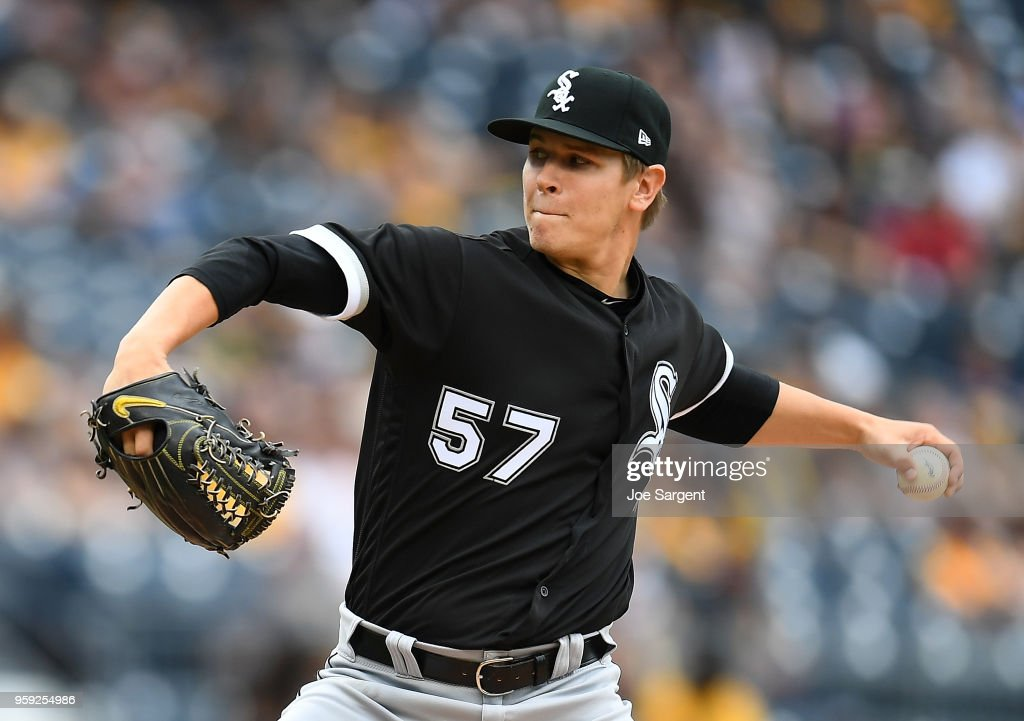 Jace Fry #57 of the Chicago White Sox pitches in the sixth inning against the Pittsburgh Pirates during inter-league play at PNC Park on May 16, 2018 in Pittsburgh, Pennsylvania.