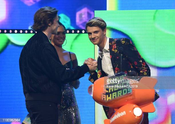 Jace Norman accepts the Favorite Male TV Star award for 'Henry Danger' onstage at Nickelodeon's 2019 Kids' Choice Awards at Galen Center on March 23...