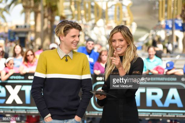 Jace Norman and Renee Bargh visits Extra at Universal Studios Hollywood on March 19 2018 in Universal City California
