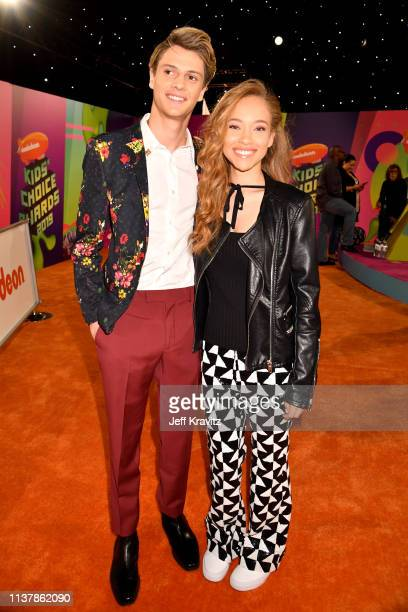 Jace Norman and Shelby Simmons attend Nickelodeon's 2019 Kids' Choice Awards at Galen Center on March 23 2019 in Los Angeles California