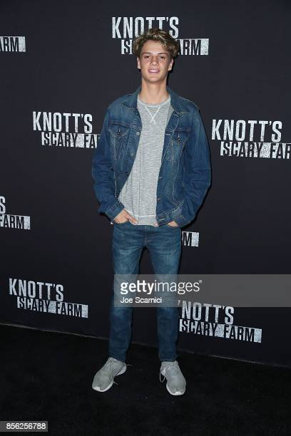 Jace Norman arrives at Knott's Scary Farm and Instagram's Celebrity Night at Knott's Berry Farm on September 29 2017 in Buena Park California