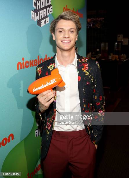 Jace Norman attends the Pinkberry green room backstage at Nickelodeon's 2019 Kids' Choice on March 23 2019 in Los Angeles California