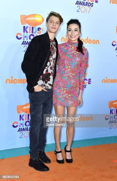 Jace Norman Miranda Cosgrove arrives at the Nickelodeon's 2017 Kids' Choice Awards at USC Galen Center on March 11 2017 in Los Angeles California