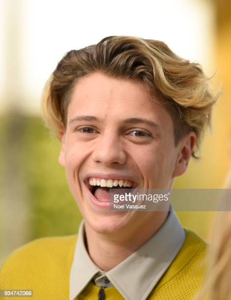 Jace Norman visits Extra at Universal Studios Hollywood on March 19 2018 in Universal City California