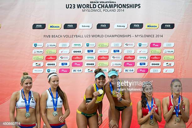 Jace Pardon and Lara Dykstra from USA and Mariafe Artacho and Nicole Laird from Australia and Melissa Humana-Paredes and Taylor Pischke from Canada...