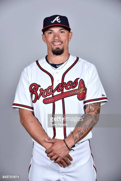 Jace Peterson of the Atlanta Braves poses during Photo Day on Tuesday February 21 2017 at Champion Stadium in Lake Buena Vista Florida