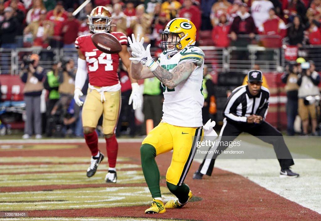 NFC Championship - Green Bay Packers v San Francisco 49ers : Nachrichtenfoto