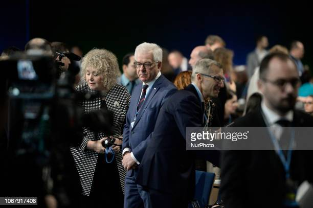 Jacek Czaputowicz at the opening of the Climate Change Conference COP24 in Katowice Poland on December 3 2018 The Katowice Climate Conference has...