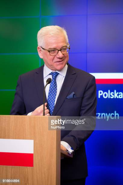 Jacek Czaputowicz during the meeting of Polish and Estonian Ministers of Foreign Affairs in Warsaw Poland on 9 February 2018