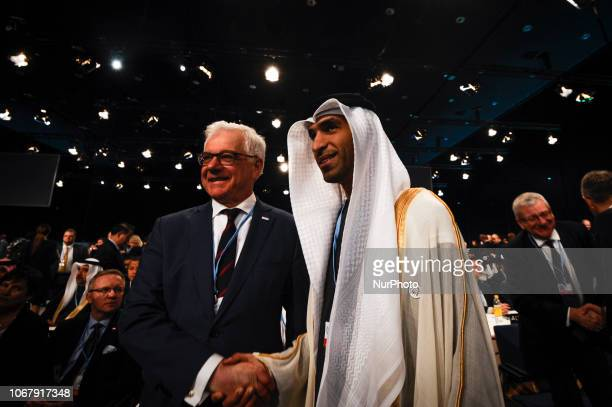 Jacek Czaputowicz is seen at the opening of the Climate Change Conference COP24 in Katowice Poland on December 3 2018 The Katowice Climate Conference...