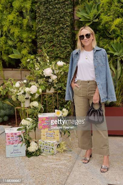 Jacey Duprie attends Gwyneth Paltrow hosts a Goop morning in celebration of first international campaign with Flow Alkaline Spring Water at The Smog...