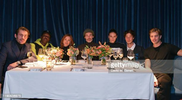 Jacey Elthalion Jamal Edwards Arielle Free Richard Biedul Charlotte Wiggins Harvey James and Toby HuntingtonWhiteley attend a Thanksgiving lunch...
