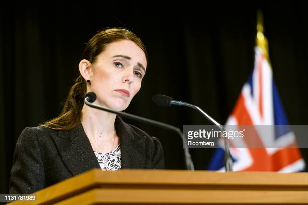 Jacinda Ardern, New Zealand's prime minister, attends a news conference in Wellington, New Zealand, on Thursday, March 21, 2019. New Zealand has...