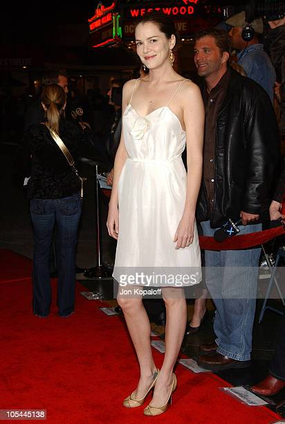 Jacinda Barrett during A Love Song For Bobby Long Los Angeles Premiere Arrivals at Mann Bruin in Westwood California United States