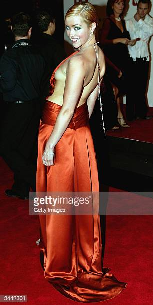 Jacinta Stapleton from Stingers attends the 46th Annual TV Week Logie Awards at the Crown Entertainment Complex April 18 2004 in Melbourne Australia