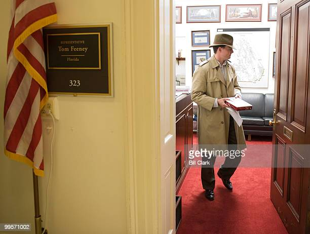 Jack Abramoff Pfeiffer attempts to deliver a package of golf balls to the office of Rep Tom Feeney RFla on Wednesday April 23 to mark the anniversary...