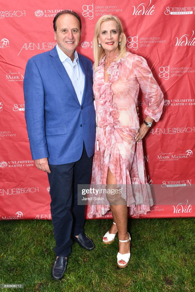 Jack Acoco and Ruth Miller attend AVENUE on the Beach's Summer Soiree at The Baker House on August 12, 2017 in East Hampton, New York.
