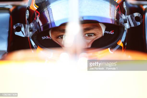 Jack Aitken of Great Britain and Campos Racing before practice for the Formula 2 Championship at Silverstone on July 31, 2020 in Northampton, England.