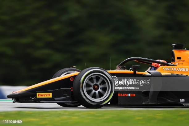 Jack Aitken of Great Britain and Campos Racing drives on track during practice for the Formula 2 Championship at Red Bull Ring on July 03, 2020 in...
