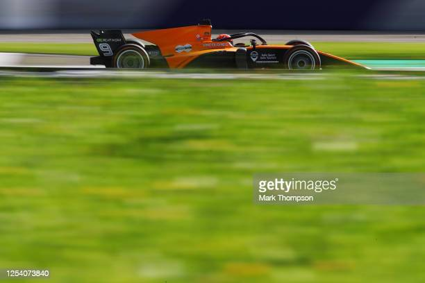 Jack Aitken of Great Britain and Campos Racing drives on track during qualifying for the Formula 2 Championship at Red Bull Ring on July 03, 2020 in...