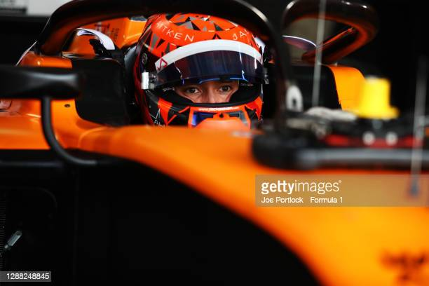 Jack Aitken of Great Britain and Campos Racing prepars for the Round 11:Sakhir Feature Race of the Formula 2 Championship at Bahrain International...