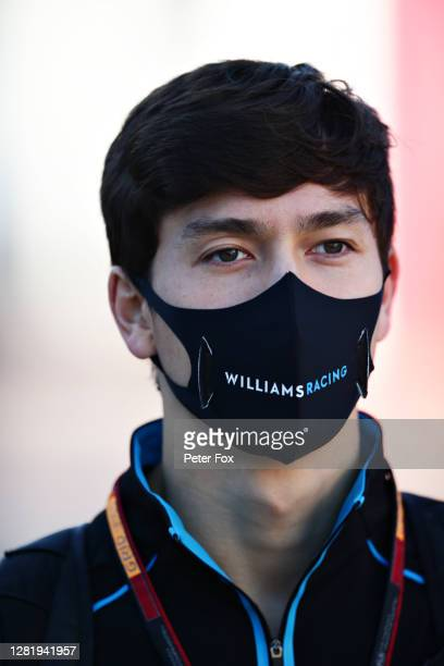 Jack Aitken of Great Britain and Williams walks in the Paddock before practice ahead of the F1 Grand Prix of Portugal at Autodromo Internacional do...