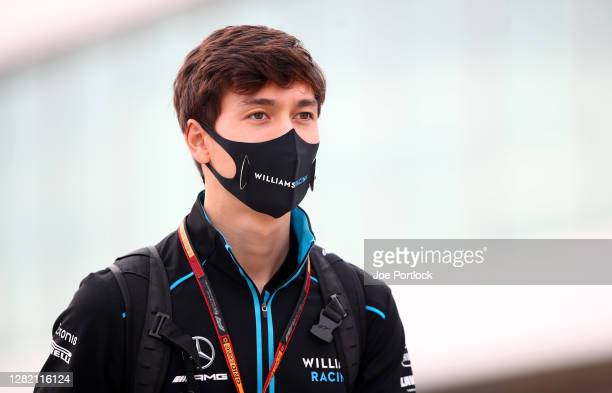 Jack Aitken of Great Britain and Williams walks in the Paddock before the F1 Grand Prix of Portugal at Autodromo Internacional do Algarve on October...