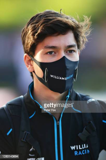 Jack Aitken of Great Britain and Williams walks in the Paddock before practice ahead of the F1 Grand Prix of Emilia Romagna at Autodromo Enzo e Dino...