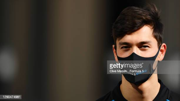Jack Aitken of Great Britain and Williams walks in the Paddock during previews ahead of the F1 Grand Prix of Abu Dhabi at Yas Marina Circuit on...