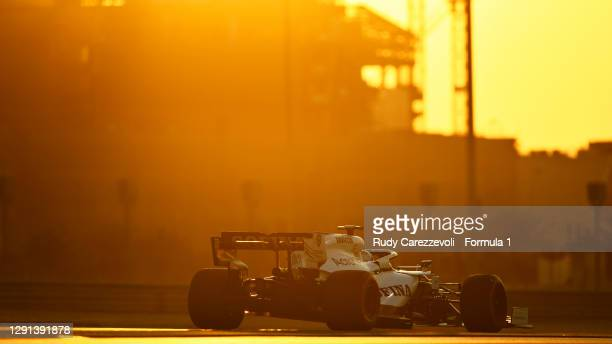 Jack Aitken of Great Britain driving the Williams Racing FW43 Mercedes during the F1 Young Drivers Test at Yas Marina Circuit on December 15, 2020 in...