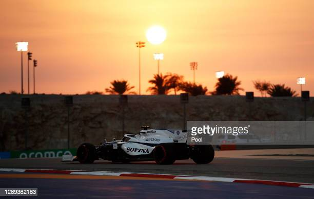 Jack Aitken of Great Britain driving the Williams Racing FW43 Mercedes on track during practice ahead of the F1 Grand Prix of Sakhir at Bahrain...