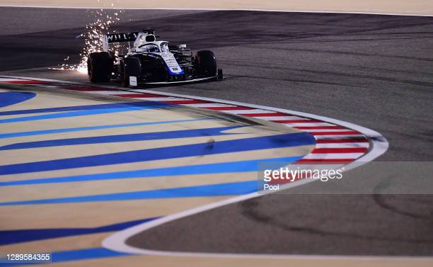 Jack Aitken of Great Britain driving the Williams Racing FW43 Mercedes on track during qualifying ahead of the F1 Grand Prix of Sakhir at Bahrain...