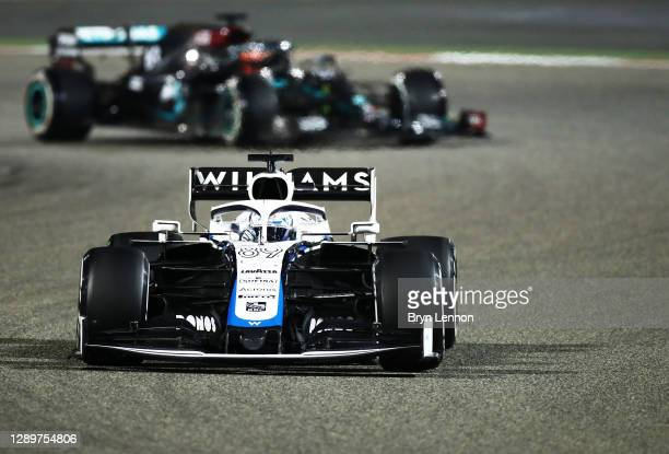 Jack Aitken of Great Britain driving the Williams Racing FW43 Mercedes on track during the F1 Grand Prix of Sakhir at Bahrain International Circuit...