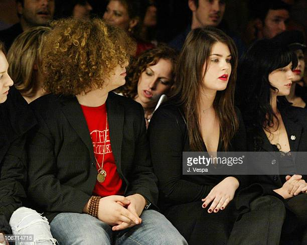 Jack and Aimee Osbourne during Mercedes-Benz Shows LA Fashion Week Spring 2004 - Jenni Kayne Backstage and Front Row at The Standard Downtown LA in...