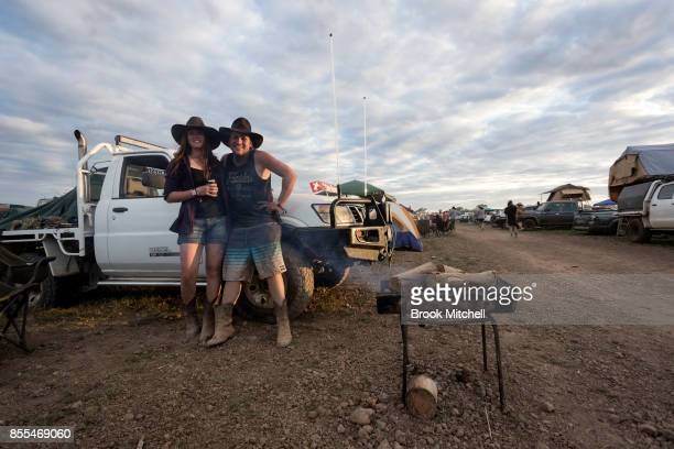 Jack and girlfriend Talia enjoy the festivities inside the notorious 'Ute Paddock' at the 2017 Deni Ute Muster on September 29 2017 in Deniliquin...