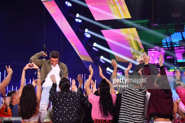 Jack and Jack performs on stage during the MTV EMAs 2018 on November 4 2018 in Bilbao Spain