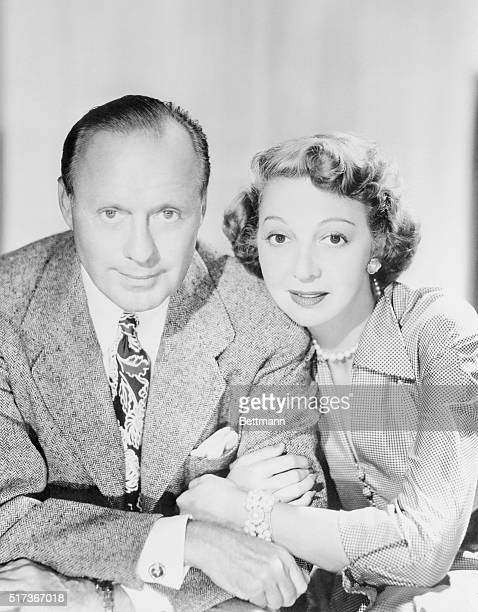 Jack and Mary Benny married 28 years Seated pose of both