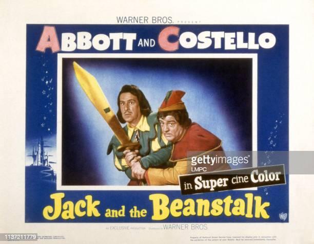 Jack And The Beanstalk, lobbycard, Bud Abbott, Lou Costello, 1952.