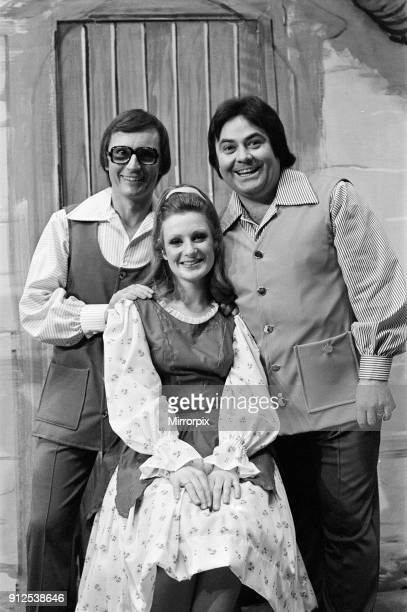 Jack and the Beanstalk Pantomime Photocall Grand Theatre Wolverhampton 18th December 1975 Comedy team Syd Little and Eddie Large