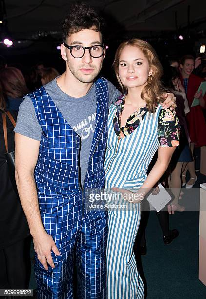 Jack Antonoff and actress Debby Ryan attend Rachel Antonoff Presentation during the Fall 2016 New York Fashion Week at Grace Building on February 11...