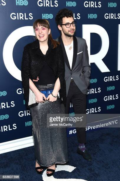 "Jack Antonoff and Lena Dunham attend The New York Premiere Of The Sixth & Final Season Of ""Girls"" at Alice Tully Hall, Lincoln Center on February 2,..."