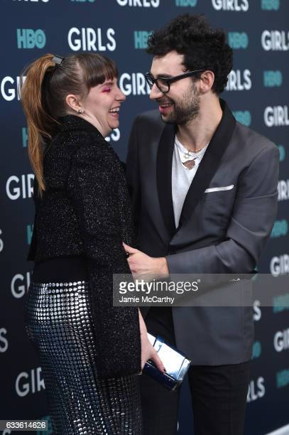 Jack Antonoff and Lena Dunham attend The New York Premiere Of The Sixth Final Season Of 'Girls' at Alice Tully Hall Lincoln Center on February 2 2017...