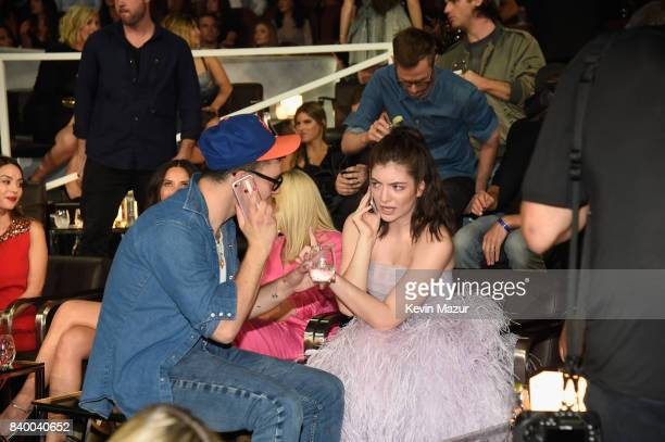 Jack Antonoff and Lorde attend the 2017 MTV Video Music Awards at The Forum on August 27, 2017 in Inglewood, California.