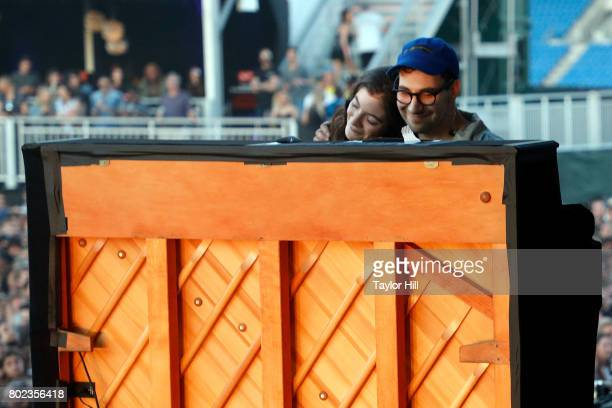 Jack Antonoff and Lorde perform during the 2017 Governors Ball Music Festival at Randall's Island on June 2, 2017 in New York City.