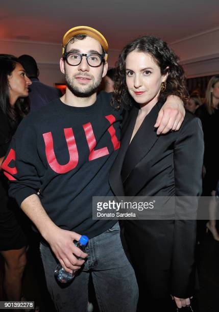 Jack Antonoff and Sara Moonves attends W Magazine's Celebration of its 'Best Performances' Portfolio and the Golden Globes with Audi Dior and Dom...