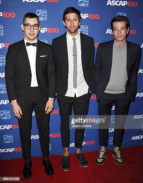 Jack Antonoff Andrew Dost and Nate Ruess of the band Fun attends the 31st annual ASCAP Pop Music Awards at The Ray Dolby Ballroom at Hollywood...