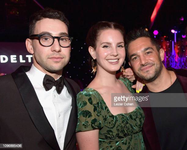 Jack Antonoff Lana Del Rey and Ben Mawson attend the PreGRAMMY Gala and GRAMMY Salute to Industry Icons Honoring Clarence Avant at The Beverly Hilton...