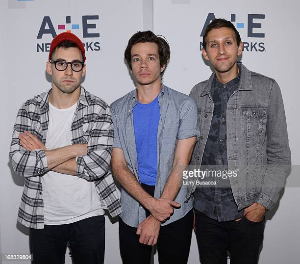 Jack Antonoff Nate Ruess and Andrew Dost of the band fun attend the AE Networks 2013 Upfront on May 8 2013 in New York City