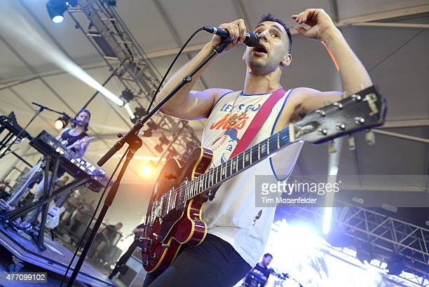 Jack Antonoff of Bleachers performs at the 2015 Bonnaroo Music Arts Festival on June 13 2015 in Manchester Tennessee