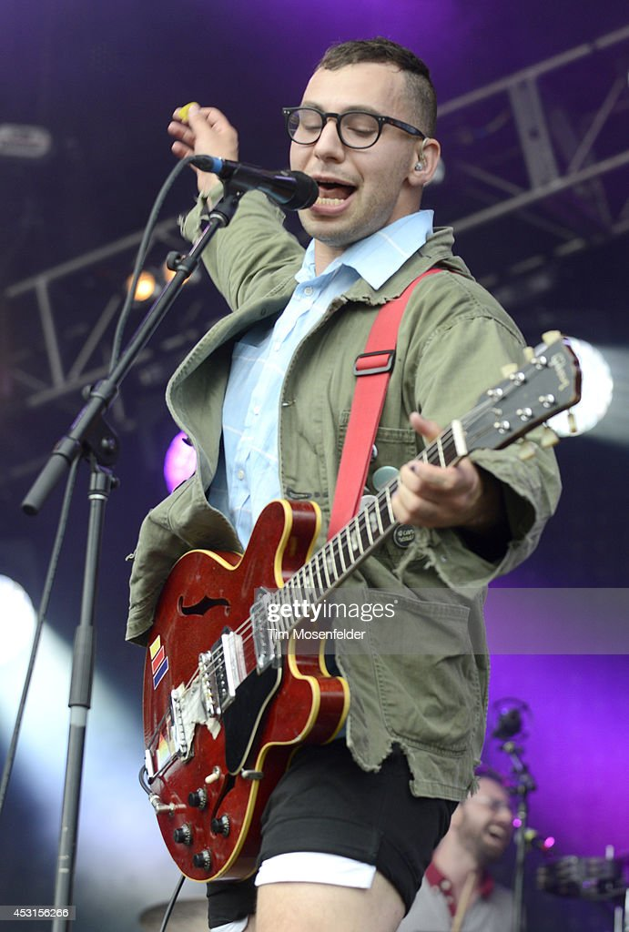 Jack Antonoff of Bleachers performs during 2014 Lollapalooza at Grant Park on August 3, 2014 in Chicago, Illinois.